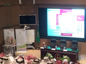 Tom Wolff addressing conference in Khobar, Saudi Arabia